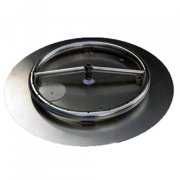 HearthDistribution FPK-OBRSS-18R 18in SS Fire Pit Ring Burner with Pan