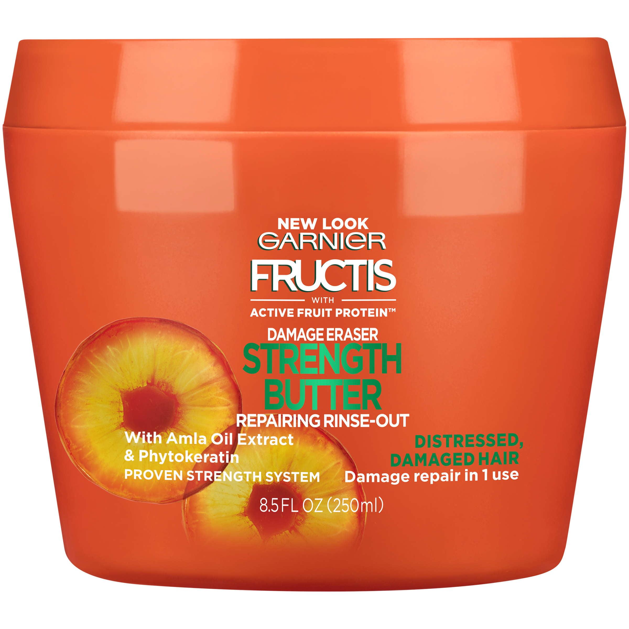 Fructis Damage Eraser Strength Reconstructing Butter Hair Mask For Distressed, Damaged Hair, 8.5 fl oz