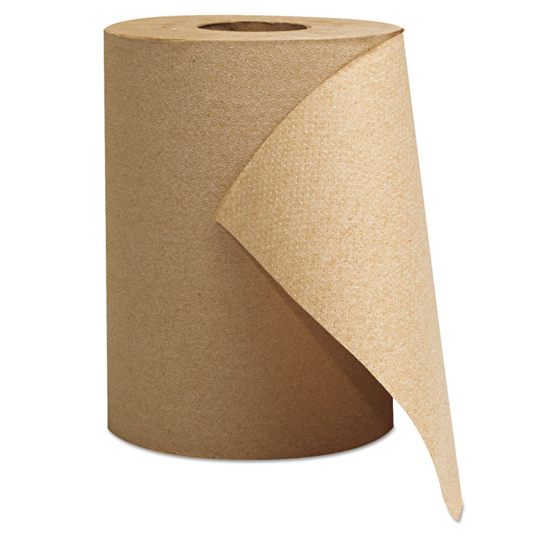 "Hardwound Roll Towels, 1-Ply, Brown, 8"" X 300 Ft, 12 Rolls/carton"