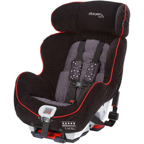 The First Years True Fit Convertible Car Seat, Black and Red Elegance