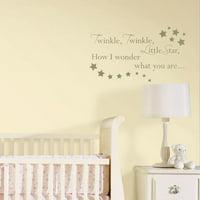WallPops Twinkle, Twinkle Nursery Rhymes