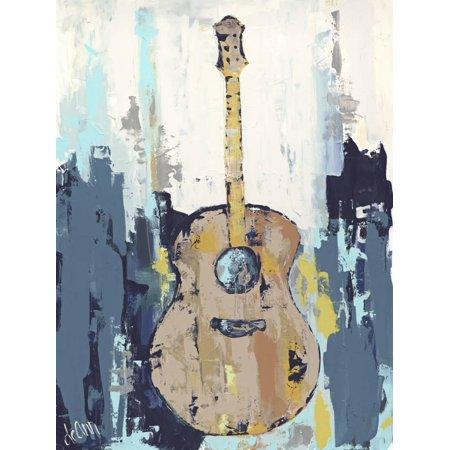 Abstract Guitar Wall - Bluebird Cafe I Abstract Guitar Art Print Wall Art By Deann Hebert