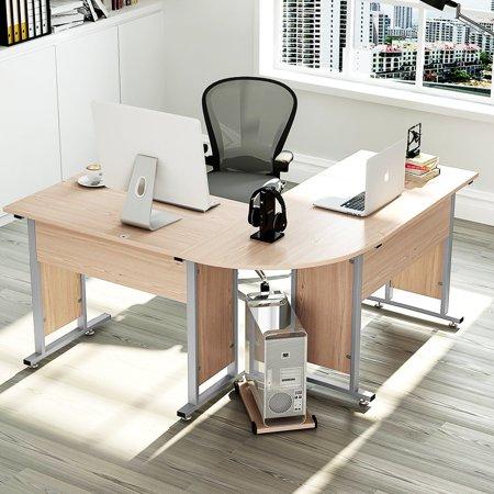 Tribesigns Large Modern L Shaped Desk Corner Computer Study Table Workstation For Home Office Salt Oak Com