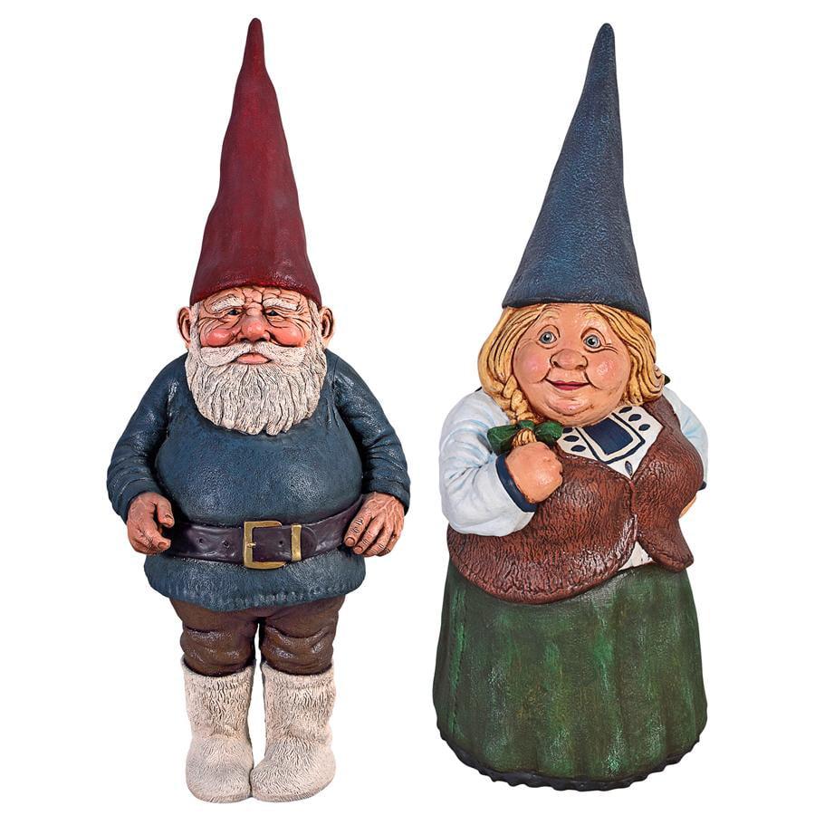Mother Dagmar & Father Friedmann Garden Gnome Statue Set by Design Toscano