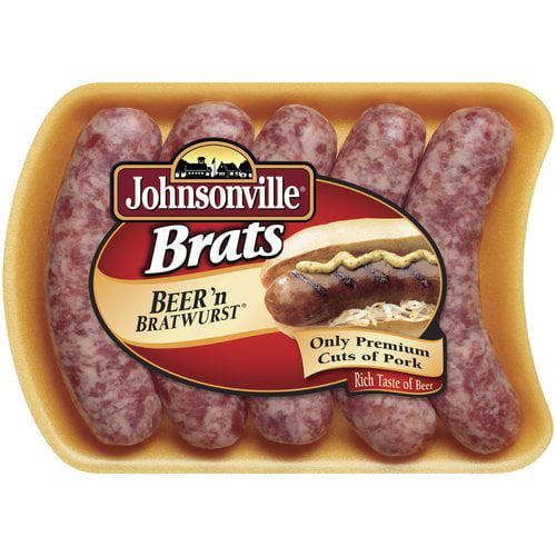 Johnsonville Beer Brats 19oz tray (101309, 101313, 101351) Holiday Promo