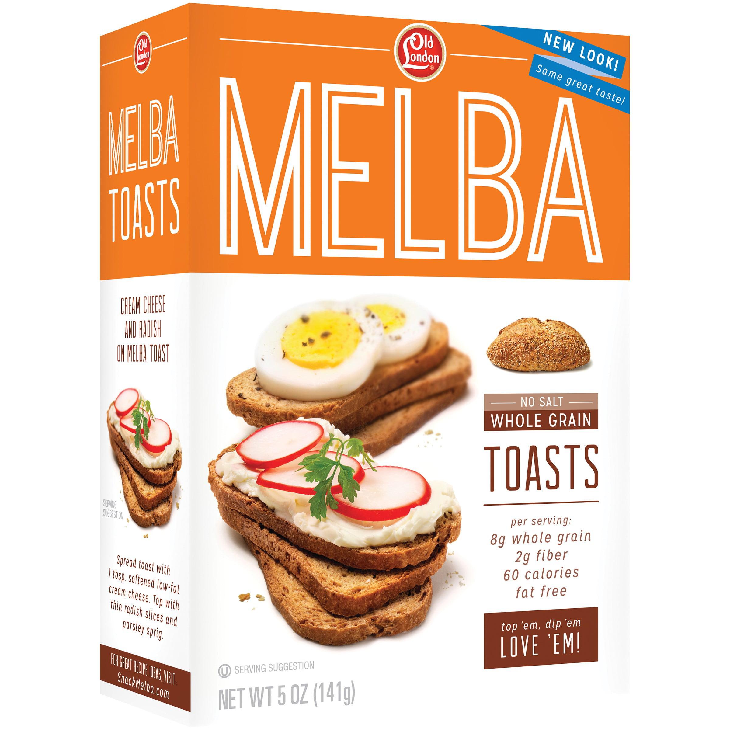 B&G Old London Foods Melba Toast, Unsalted Whole Grain, 5 Oz