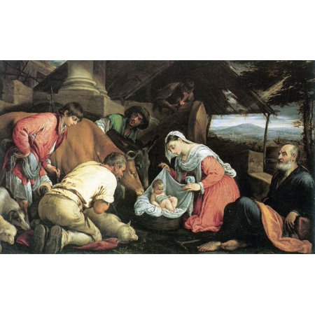 - Framed Art for Your Wall Bassano, Jacopo - Adoration of the Shepherds 10 x 13 Frame