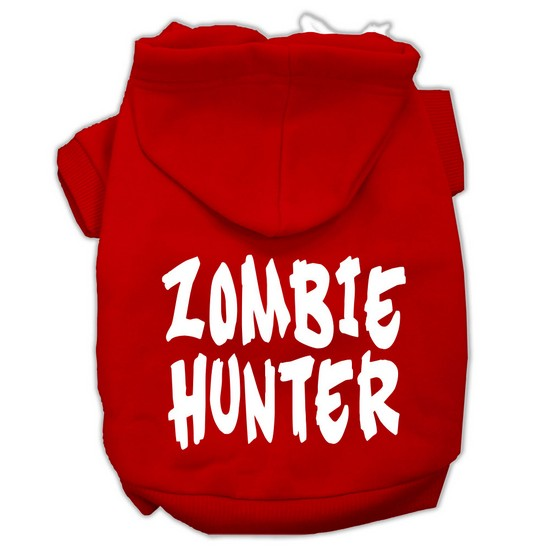 Mirage 62-99 MDRD Zombie Hunter Screen Print Pet Hoodie Red - Size M