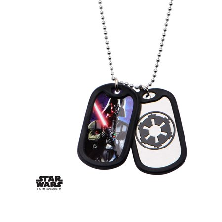 Star Wars Darth Vader Dog Tags Stainless Steel Pendant Necklace w/Gift Box by Superheroes - Vader Dog