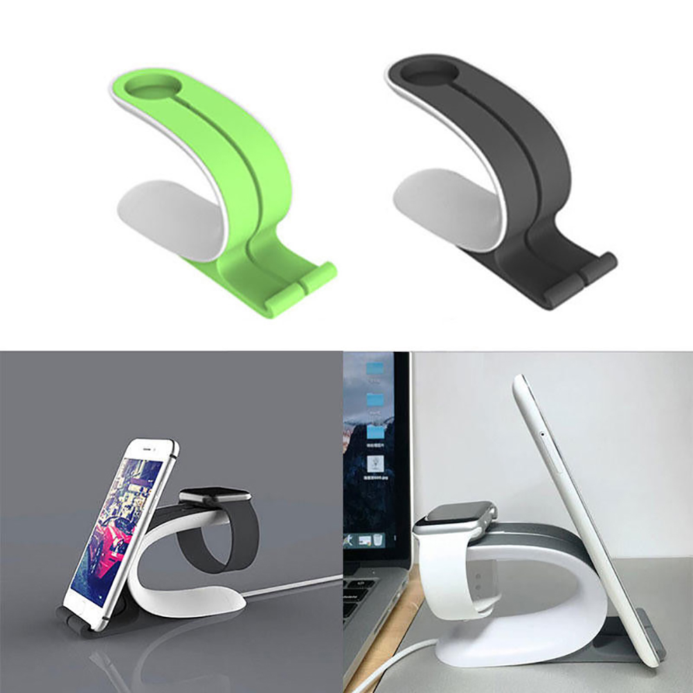 Girl12Queen 2 in1 Charging Dock Stand Station Charger Holder Tool for iWatch for iPhone