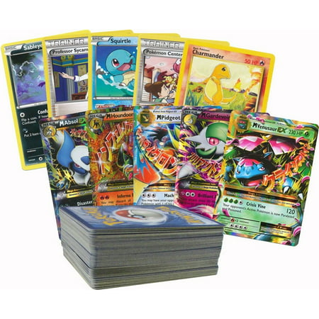 100 Random Pokemon Cards with 1 Mega Ex (Pokemon Card Blastoise Ex)