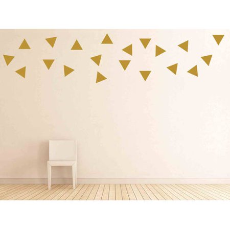 Owl Hills Triangles Wall Stickers, 4""