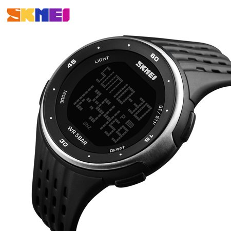 APPIE Waterproof Outdoor Sport Electronic Digital Chronograph Alarm Watch for Kid/Men/Boy,DG1219 White - image 3 de 4