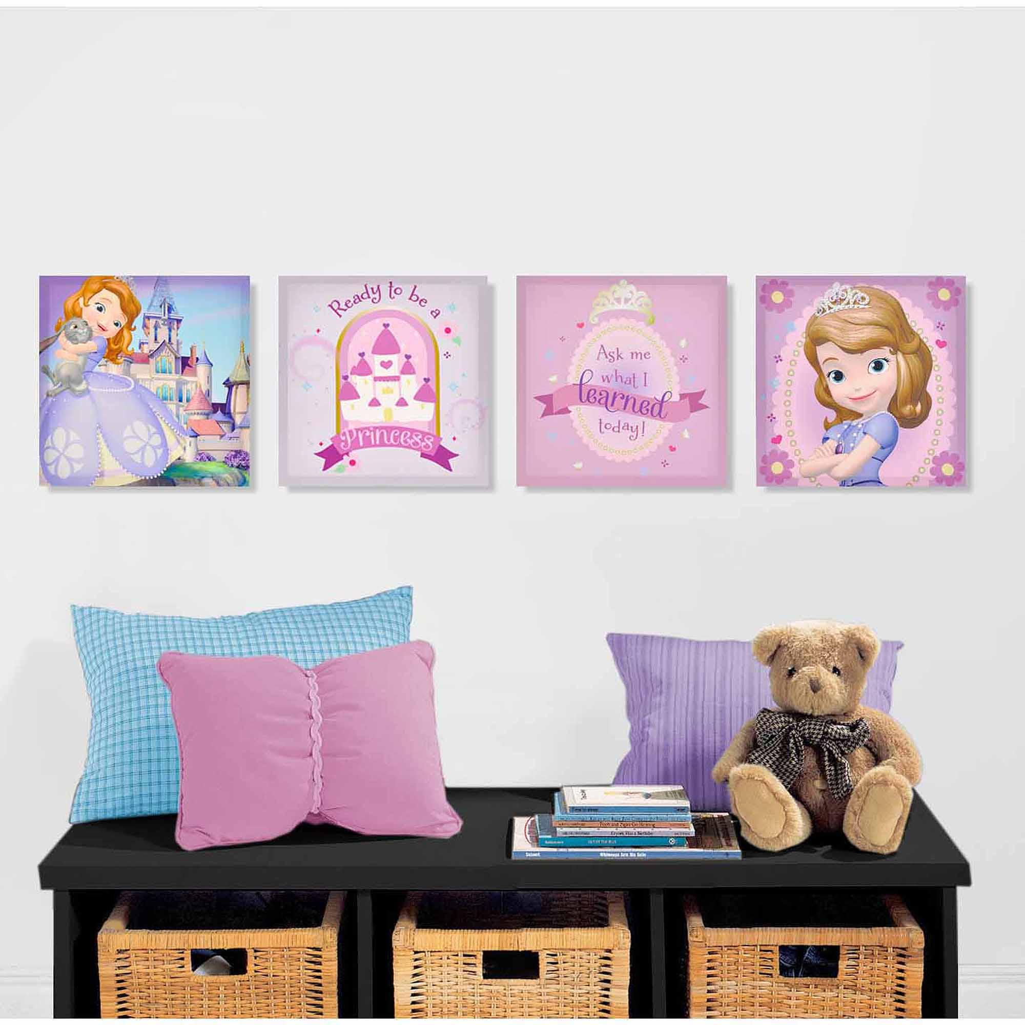 Disney Sofia the First 4-Pack Canvas Wall Art