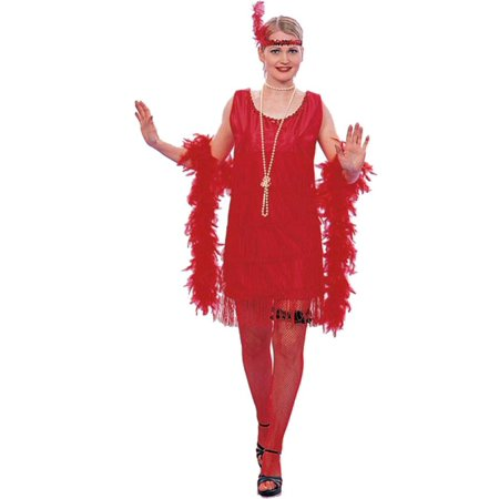 Gatsby Mens Costumes (Adult Roaring 20s Red Flapper Gatsby)