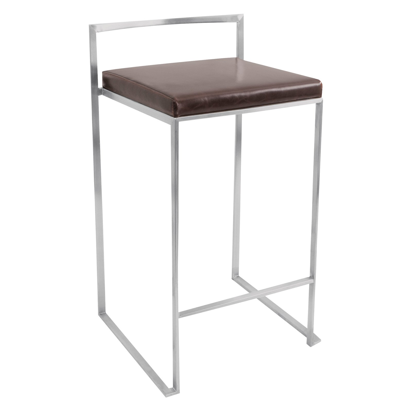 "27"" LumiSource Fuji Counter Stool - Brown"