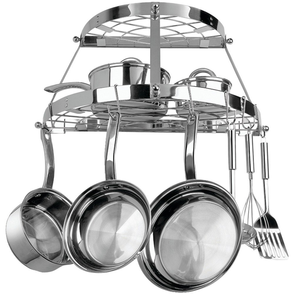 Range Kleen CW6004R Double-Shelf Wall-Mount Pot Rack (Sta...