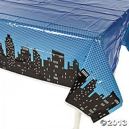 Superhero Plastic Table Cover 54'x108