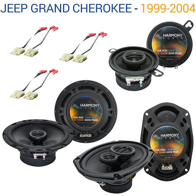 Jeep Grand Cherokee 1999-2004 OEM Speaker Replacement Harmony Upgrade Package by Harmony Audio