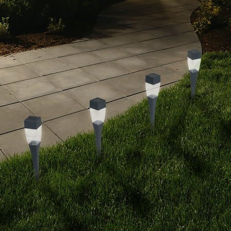 promo code 4c3c6 807ac LED Solar Modern Pathway Lights - Set of 24 by Pure Garden