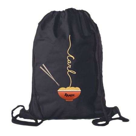 Ramen noodle Backpack Personalized Drawstring Bag Cotton Canvas Cinch Backpacks](Personalized Cinch Bags)