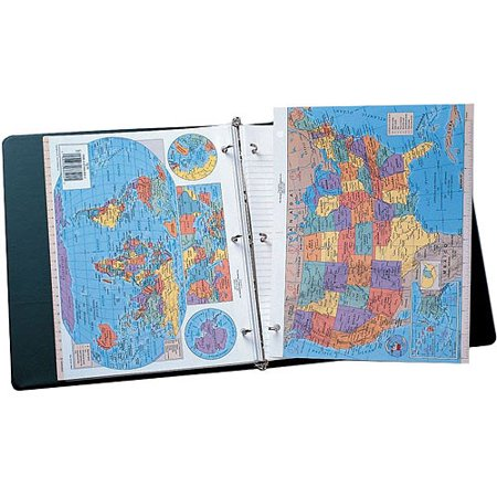 Nystrom United States World Notebook Maps, Pack of (Nystrom Raised Relief Map Of The World)