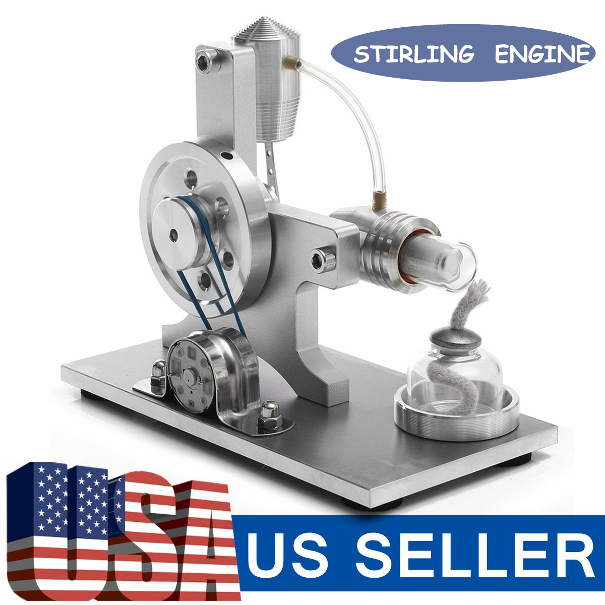 Hot Air Stirling Engine Electricity Motor Steam Heat Kids Educational Model
