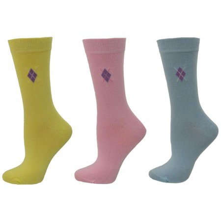 Pattern Womens Argyle Sock (Argyle Pattern Bamboo Crew Socks SWAPC)