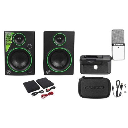 samson gomic go mic usb recording studio podcast microphone 2 mackie monitors. Black Bedroom Furniture Sets. Home Design Ideas