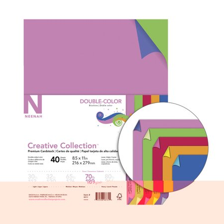 Creative Collection Cardstock, 8-1/2 x 11 Inches, Double-Color, 40 Sheets Specialty Paper Cardstock