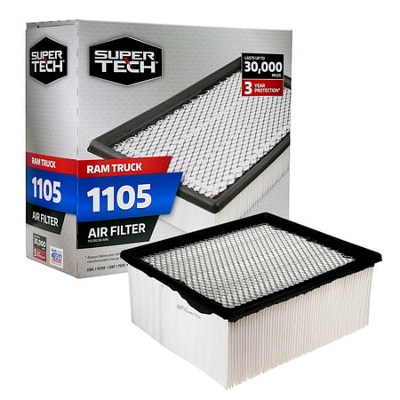 SuperTech 1105 Engine Air Filter, Replacement Filter for Chrysler or Ram Truck