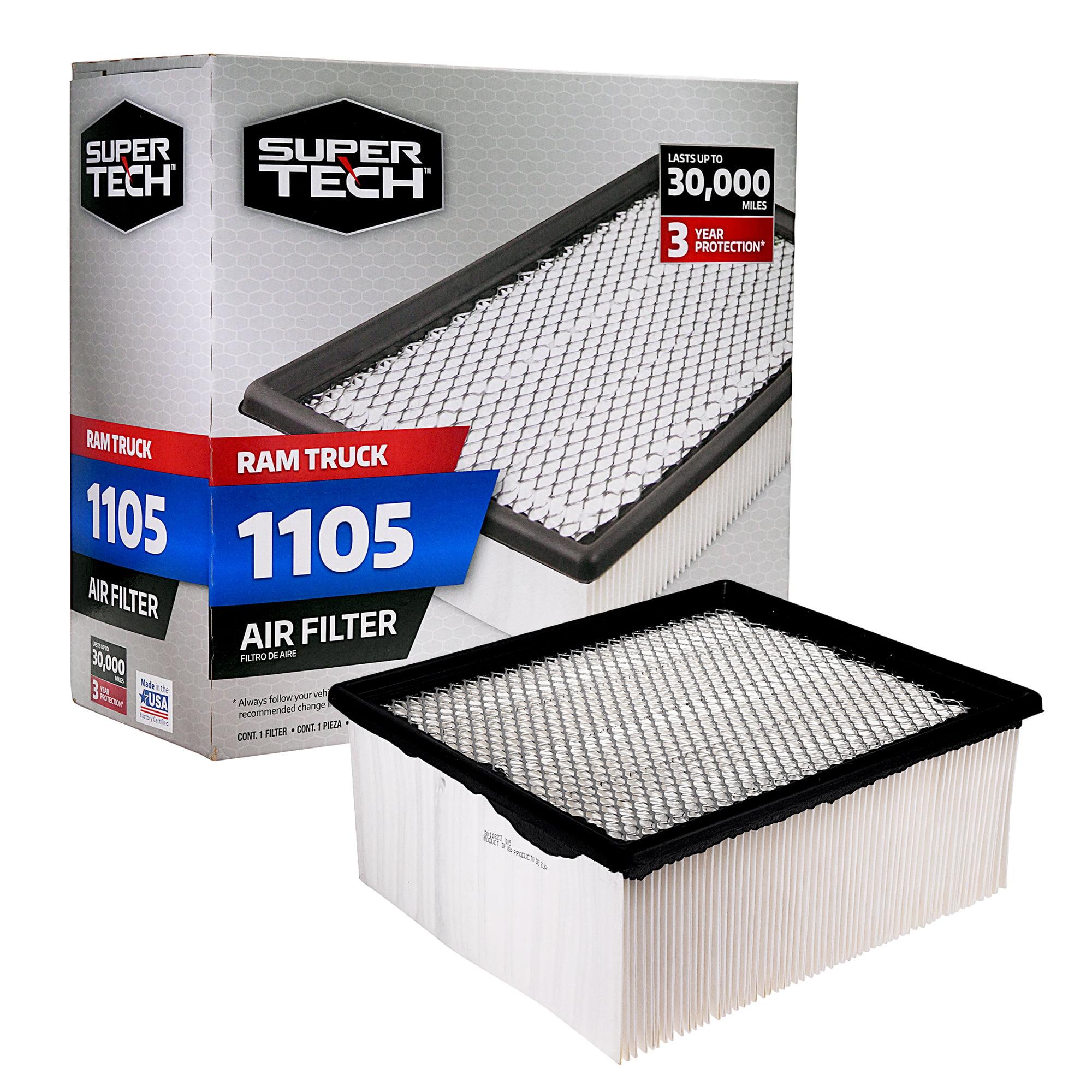 SuperTech 1105 Engine Air Filter, Replacement Filter for Chrysler or Ram Truck
