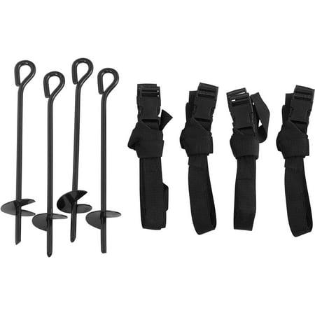 Upper Bounce Trampoline Wind Stake Anchor Kit, Set of 4 Spike Anchor Kit
