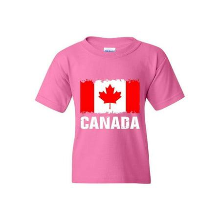 Canada Flag Unisex Youth Kids T-Shirt Tee Canada Unisex T-shirt