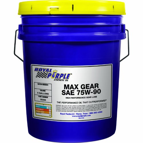 Royal Purple 05300 Max Gear 75W-90 High Performance Synthetic Automotive Gear Oil - 5 gal.