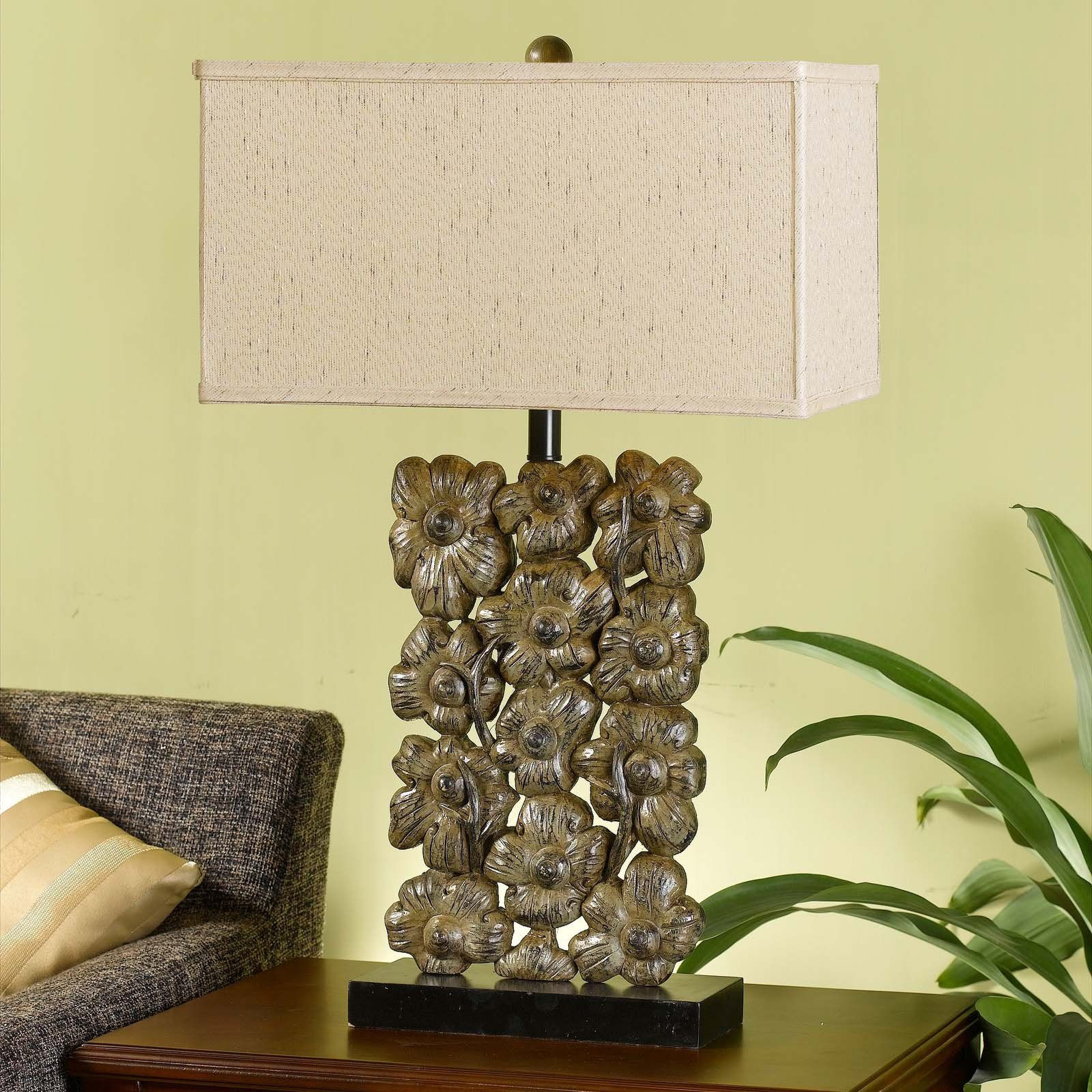 Cal Lighting BO-2042 Resin Floral Table Lamp by CAL Lighting