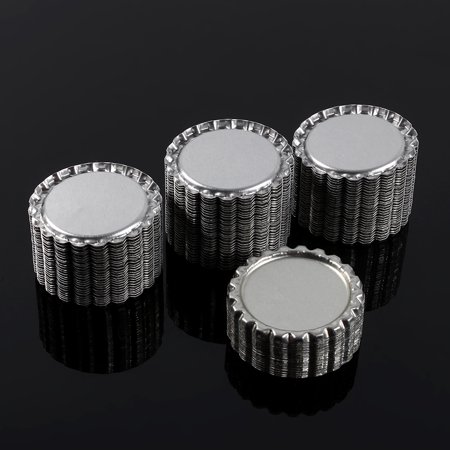 Sonew 100pcs Flat 1  Silver Color Tinplate Bottle Caps Lids Cover without Hole, Bottle Cork, Seal - image 3 of 7