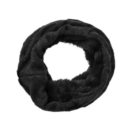 Women's Winter Knit Neck Warmers Fuzzy Cowl Snood Infinity Scarves, Only Scarf 3 ()