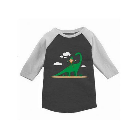 Awkward Styles Leprechaun Dinosaur Toddler Raglan St. Patrick's Day Jersey Shirt Saint Patrick Shirt Kids St. Patrick's Day Outfit St. Patrick Shirt Irish Gifts for Kids Cute Dinosaur Tshirt - Cute St Patricks Day Shirts