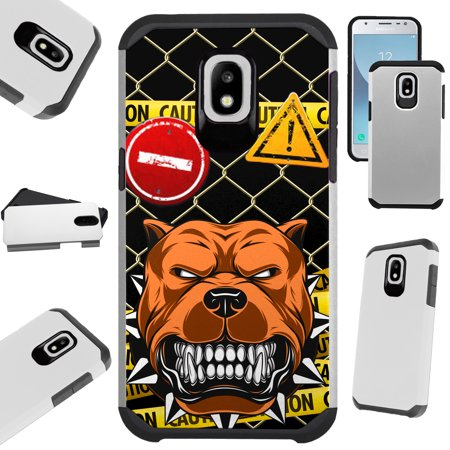 Silver Guard Phone Case Cover For Samsung Galaxy J7V (2018) | J7 Aero | J7 Top | J7 Star (Mad Dog