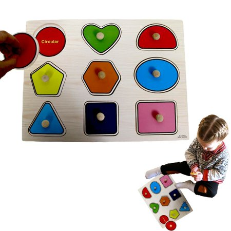Large Puzzle (Dazzling Toys Kids Favorite Wooden Large Shapes)
