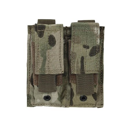 MOLLE Double Pistol Mag Pouch - MultiCam, Fits popular double-stack and single stack magazines in 9mm, .40 and .45 caliber By VooDoo