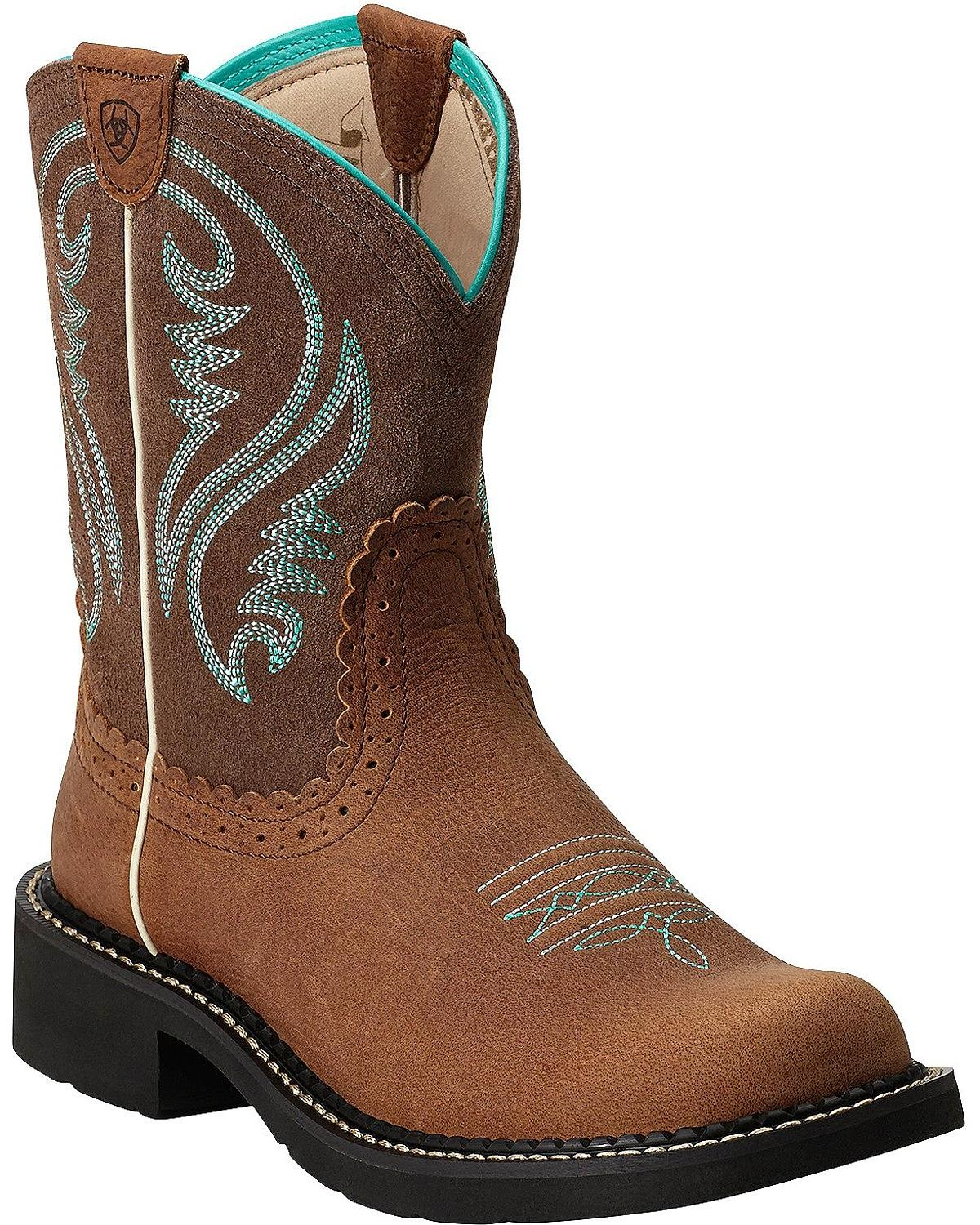 "Ariat 10014080 Fatbaby Heritage 8"" Pull On Cowboy Boot by Ariat"