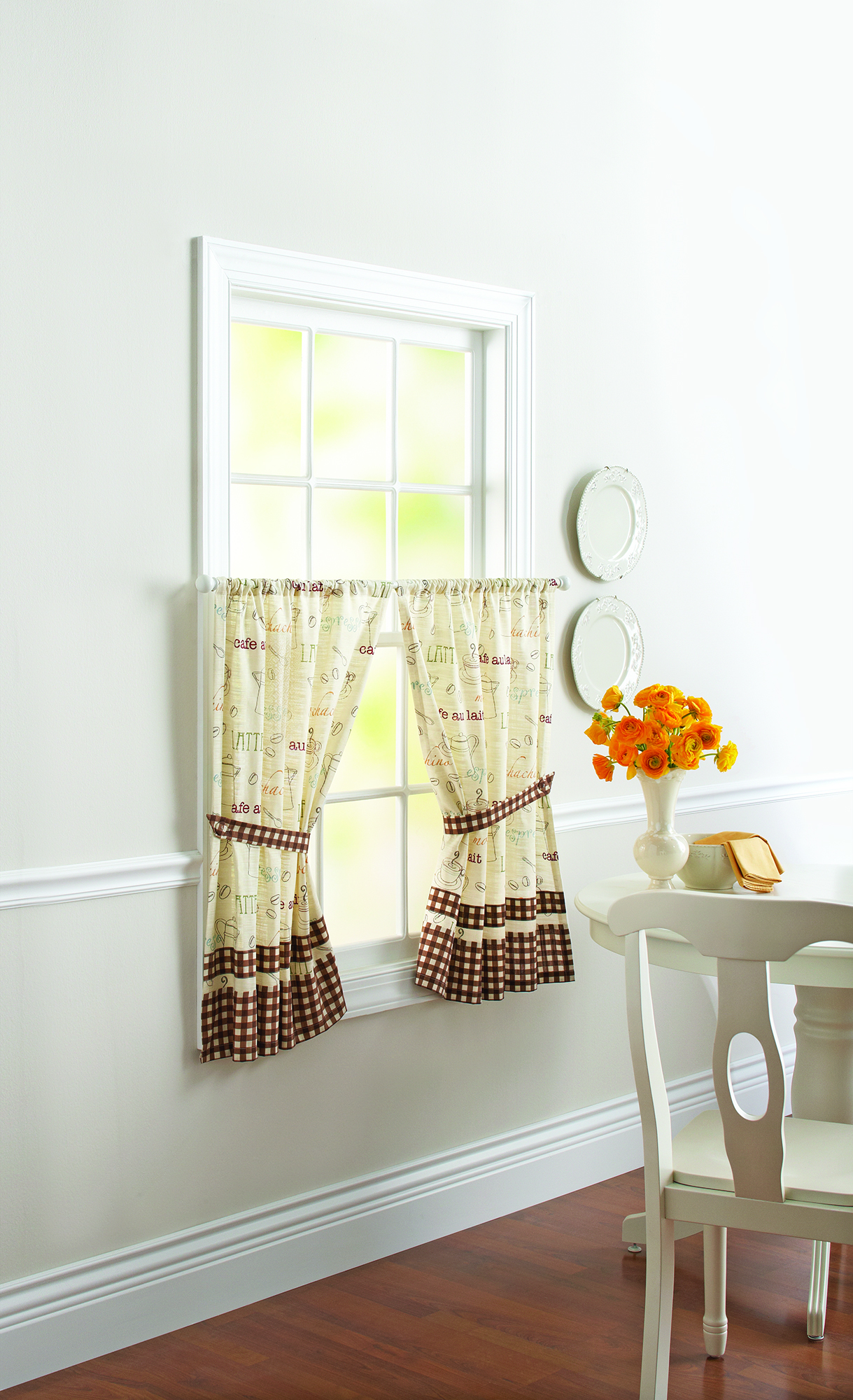 Better Homes And Gardens Cafe Au Lait 60x36 Kitchen Window Curtain Tier  Pair Or 60x16 Valance