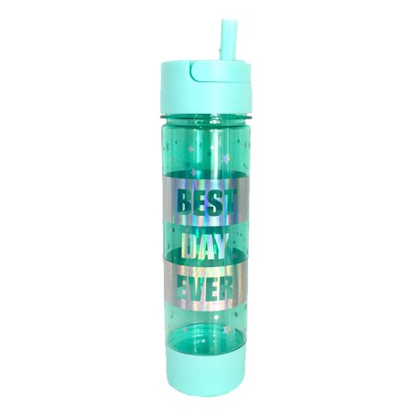 Best Day Ever BPA Free Travel Water Bottle w Storage Holder,