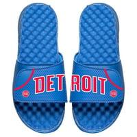 Detroit Pistons ISlide Away Jersey Split Slide Sandals - Royal
