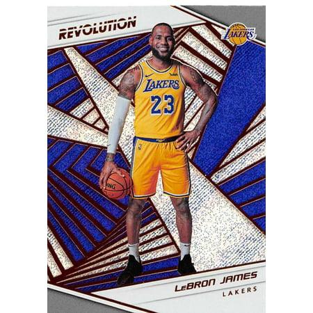 2018-19 Panini Revolution #40 LeBron James Los Angeles Lakers Basketball (Best Panini Los Angeles)