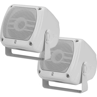 "Poly Planar #MA-840-W 4x4"" Compact Box Speaker, White, 40 Watts"