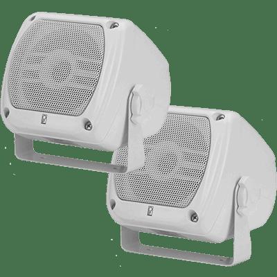 "Poly Planar #MA-840-W 4x4"" Compact Box Speaker, White, 40 Watts"