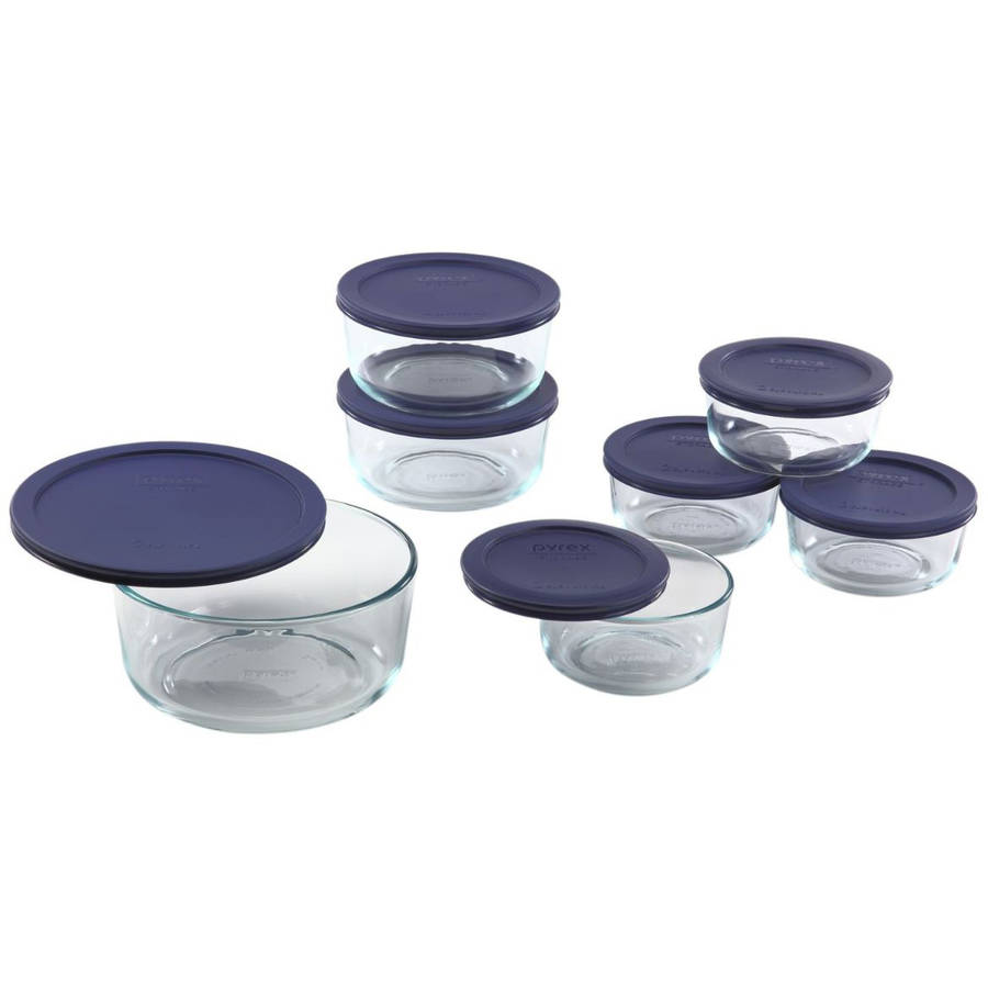 Pyrex 14-Piece Storage Plus Set, Blue